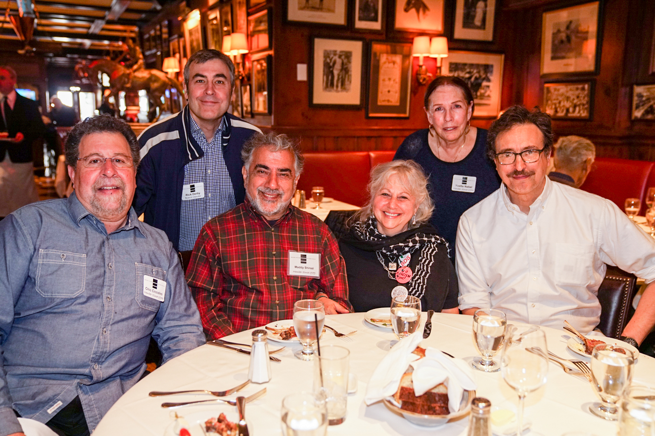 Chic Ciccolini, Rick Derby (standing), Maddy & Ann Shirazi, Yvette Nabel, Fred Rosenberg