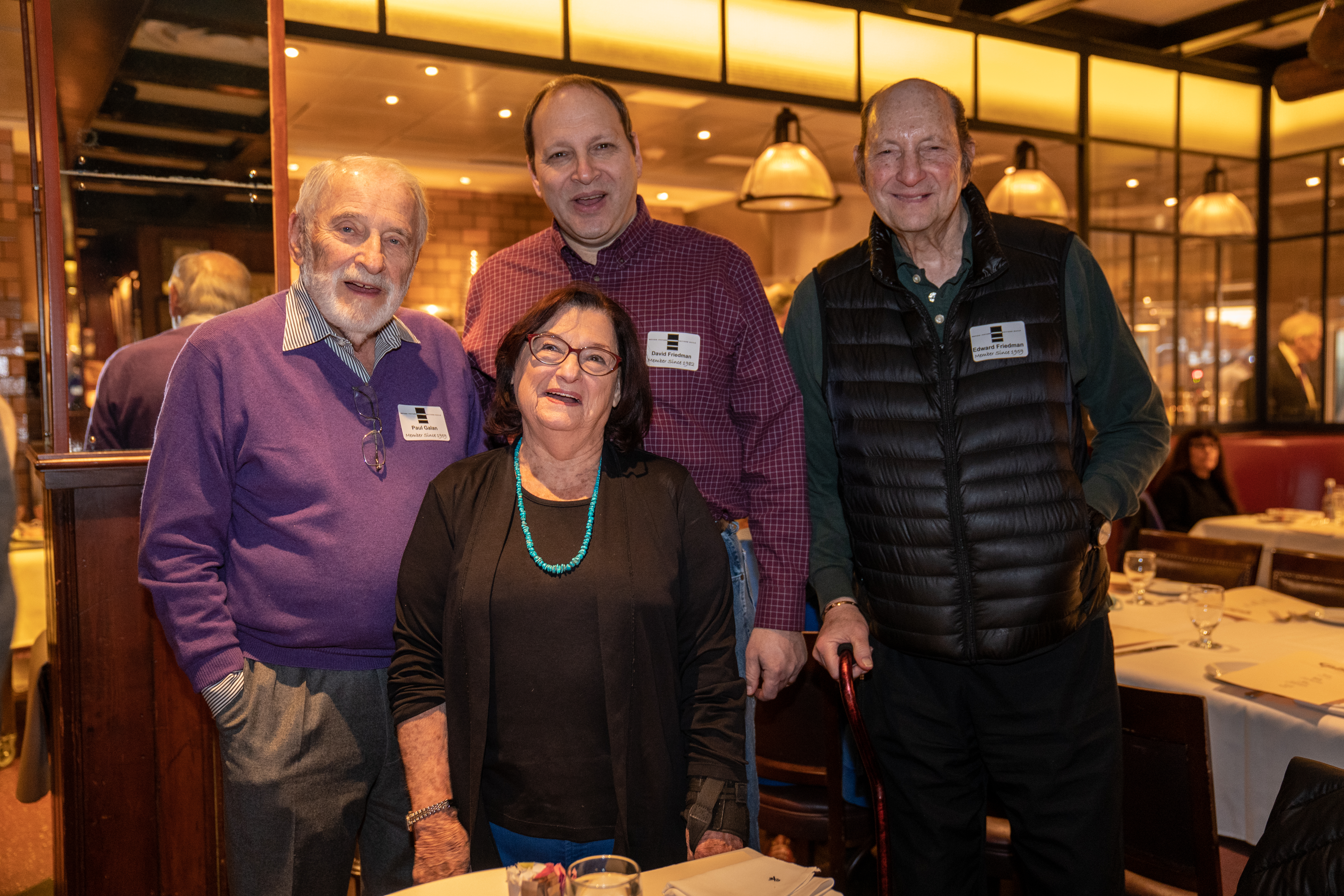 Paul Galan and Judy Galan, David and Ed Friedman
