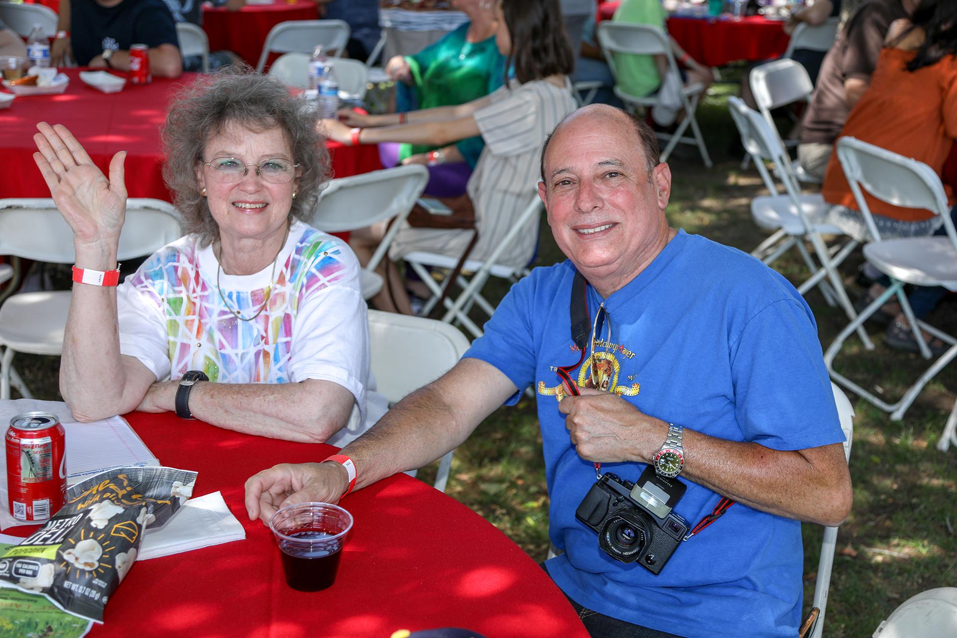 Carolyn Harris and Joe Santos