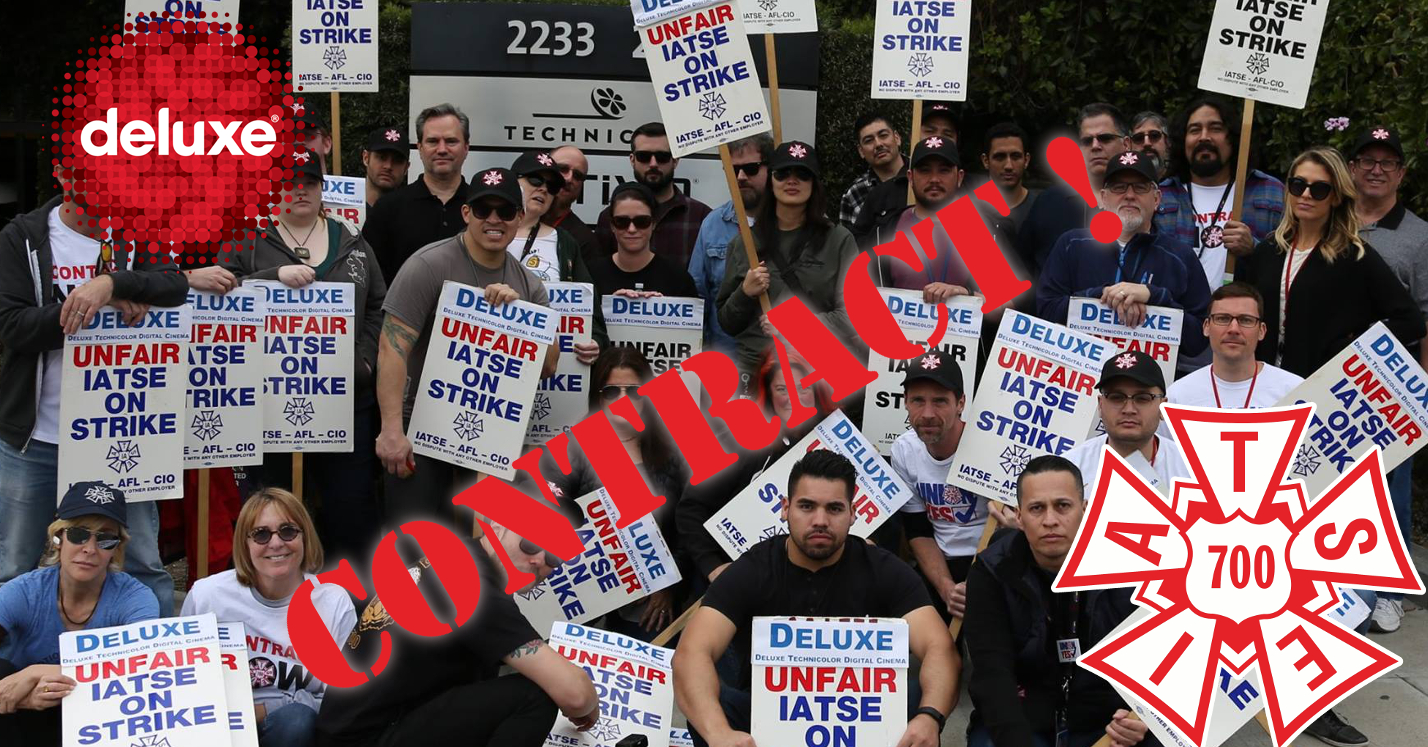 Deluxe Digital Cinema Technicians Ratify First Union Contract!